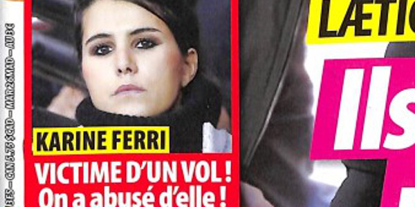 Karine ferri, victime d'un vol, on a abusé d'elle